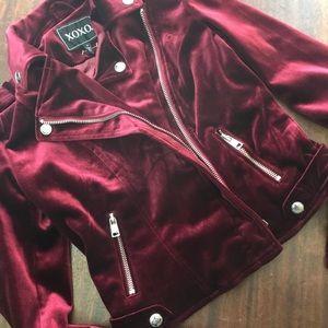 Never worn garnet velvet jacket, small, XOXO,